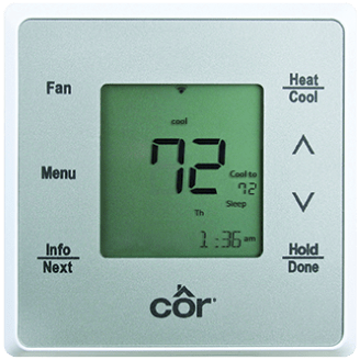 Côr<sup></noscript>®</sup> 5C Wi-Fi<sup>®</sup> Thermostat.
