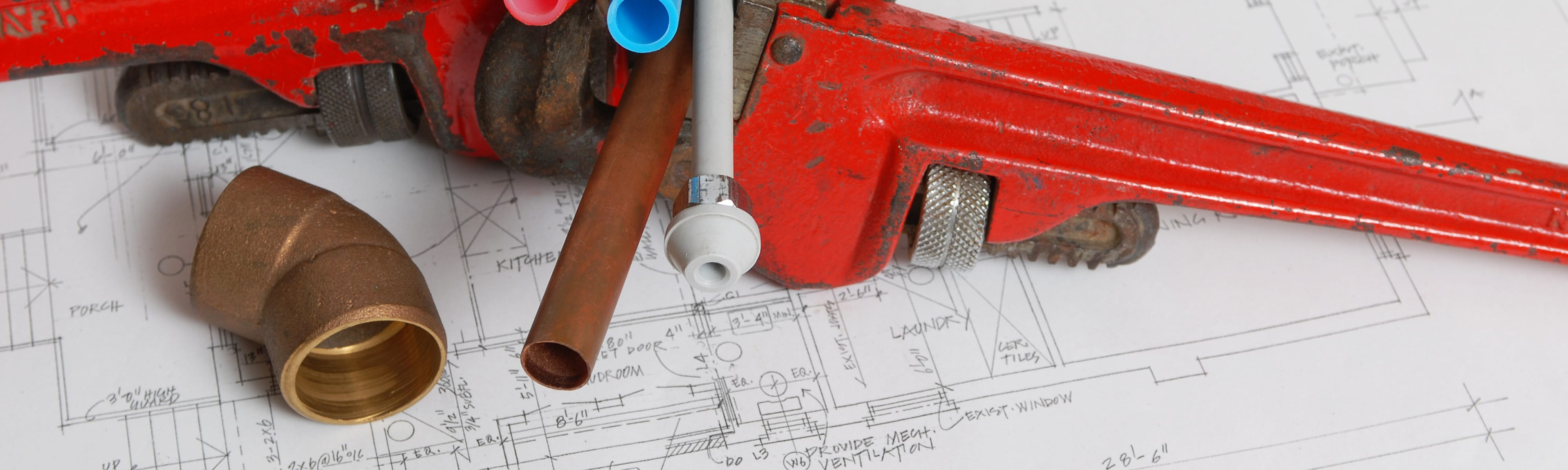 Various tools on blueprints.